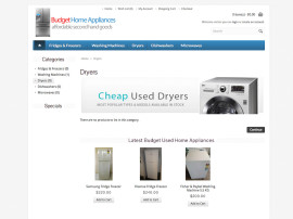 Budget Appliances Web Design