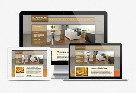 Modern Home Web Design