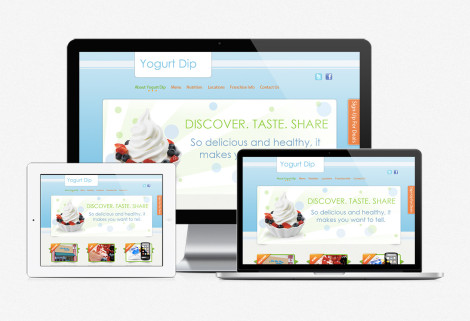 YogurtDip Website Design