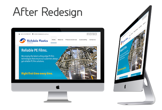 Web Redesign Company - Richdale Plastics Website Redesign