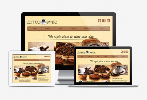 CoffeeMate Web Design