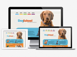 Dog School Web Design