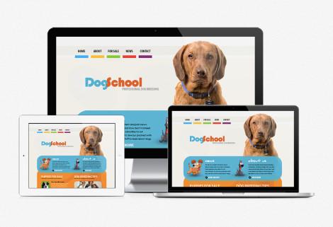 Dog School Web Design