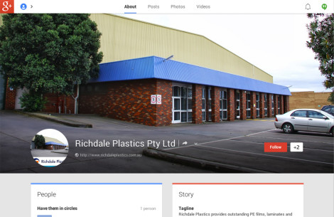 Richdale Plastics GooglePlus Page